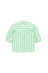 Ganni Stripe Cotton Frill Shirt