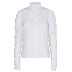 Co'couture Sandy Poplin Puff Shirt