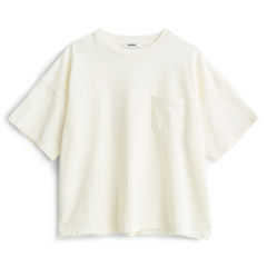 HOPE Wide Pocket Tee White