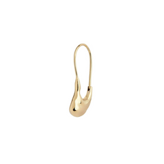 Maria Black Pebble Mini Earring Gold