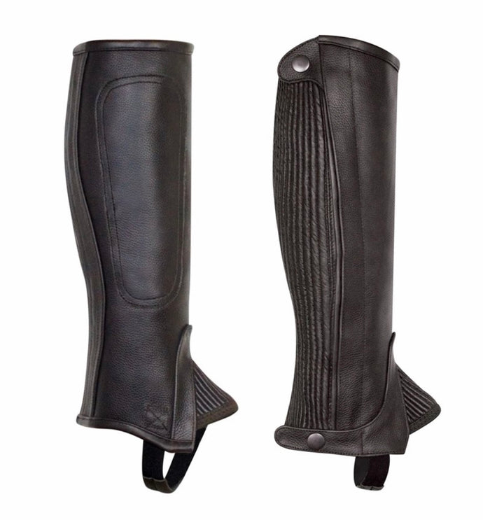 Perri's Professional Half Chaps-Adult Leather