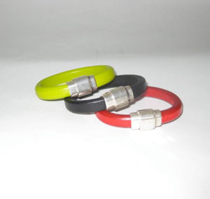 thick leather magnetic bracelet