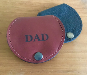 Genuine Leather Coin Purse With Tray Monogrammed