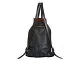 Medium Sized Leather Backpack-backview