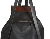 Medium Sized Leather Backpack- detail