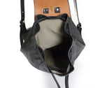 Medium Sized Leather Backpack-inside