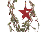 Leather Christmas Tree Ornaments, Christmas Star Decoration.
