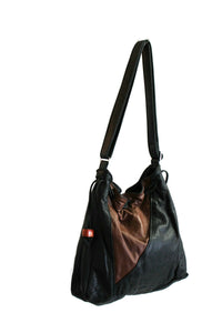 Discounted Sale, Leather Drawstring Shoulder Bag, Crossbody Purse- THE STELLA