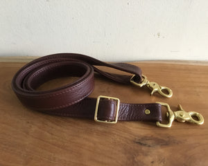 "1"" Wide Crossbody Removable Leather Strap, Replacement Strap"
