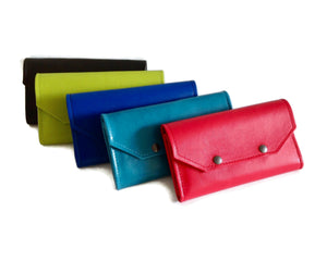 Large Leather Credit Card Wallet, Leather Clutch Wallet