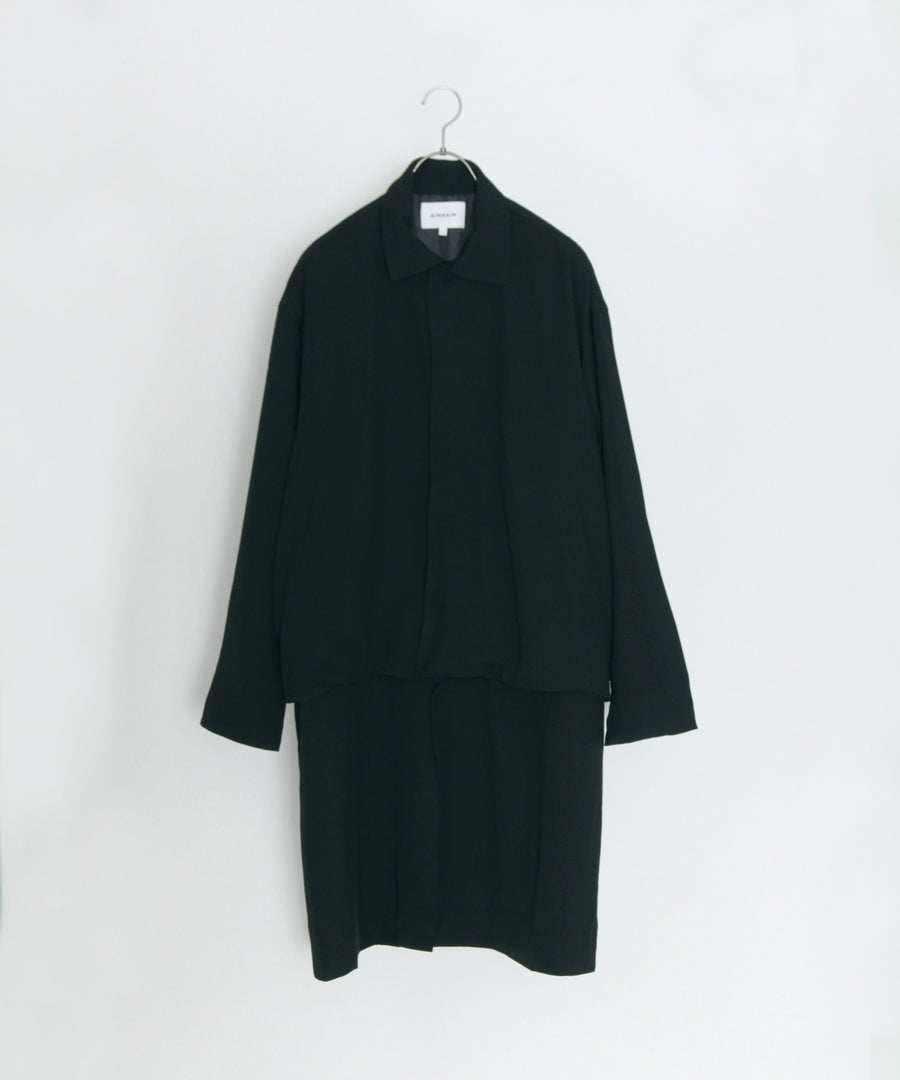 2WAY SOLID COAT (Black)
