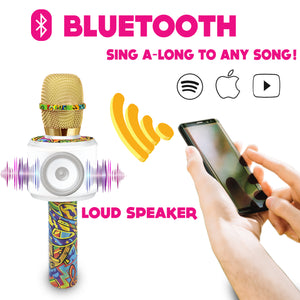 Motown Bluetooth Karaoke Microphone - Colorful Graphic