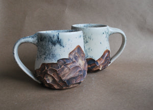 Large Splatter Mountain Mug