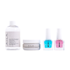 nail care kit with cuticle oil, natural nail polish remover, strengthening base coat, and  nail repair base coat