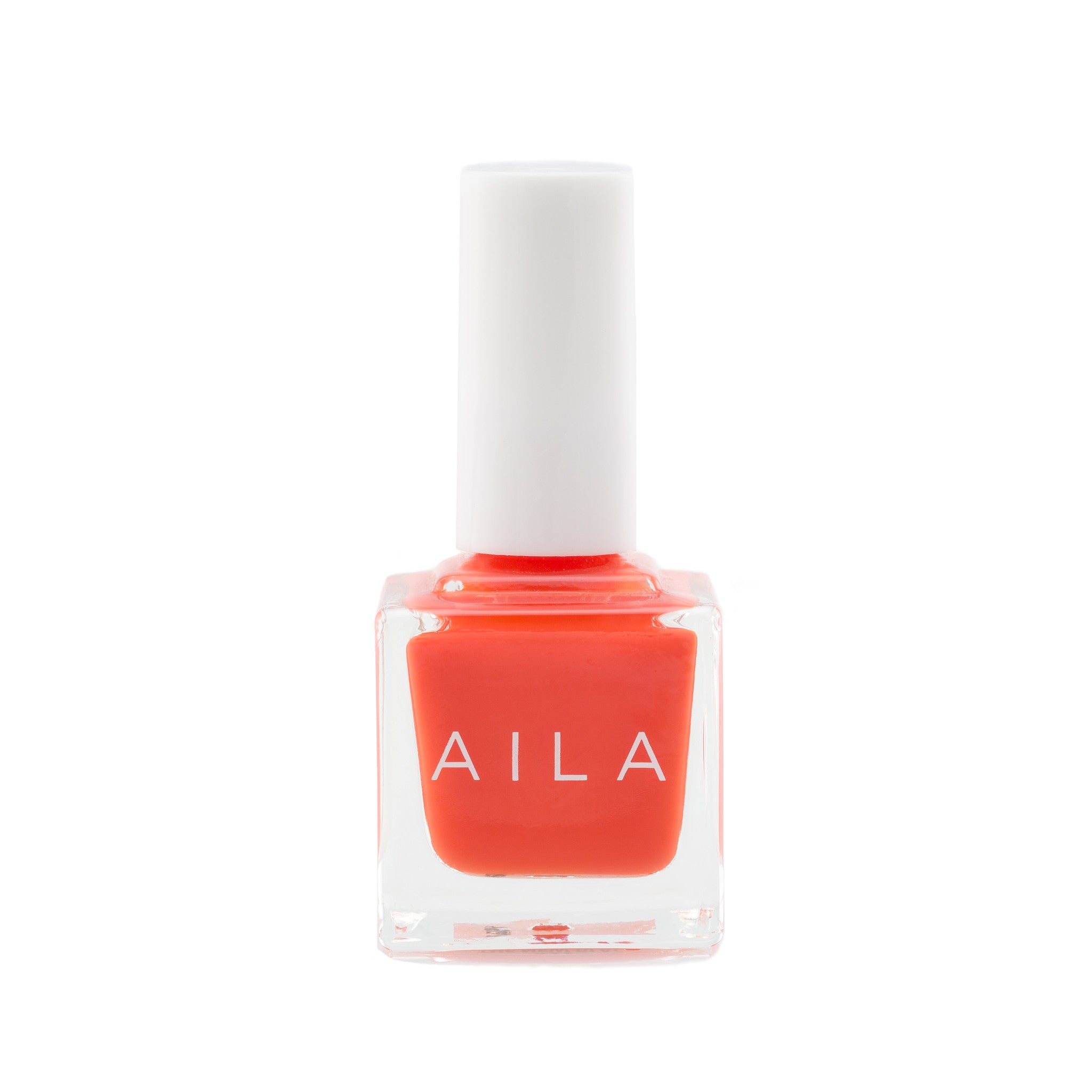 vegan red orange nail polish