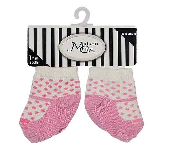 Pink Mary Jane With Polka-dots Socks