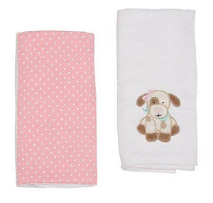 Mollie The Puppy Double Burp Cloth Gift Set