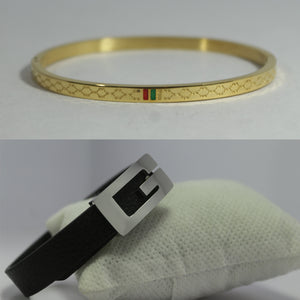 COMBO SLIM GOLDEN AND SMALL SILVER G PREMIUM BRACELET