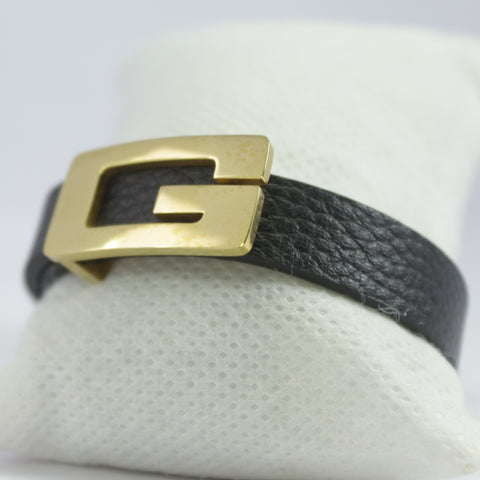 SMALL G GOLDEN LEATHER BRACELET