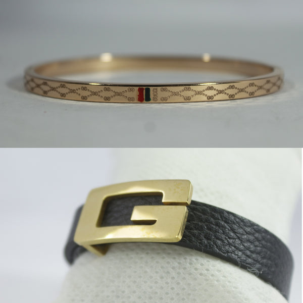 COMBO SLIM ROSE GOLD AND SMALL GOLD G PREMIUM BRACELET