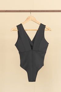 Aria Plunged V-Neck Bodysuit