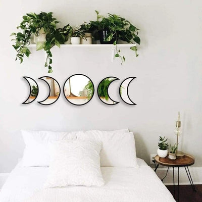 Nordic Style Moon Phase Mirror Set