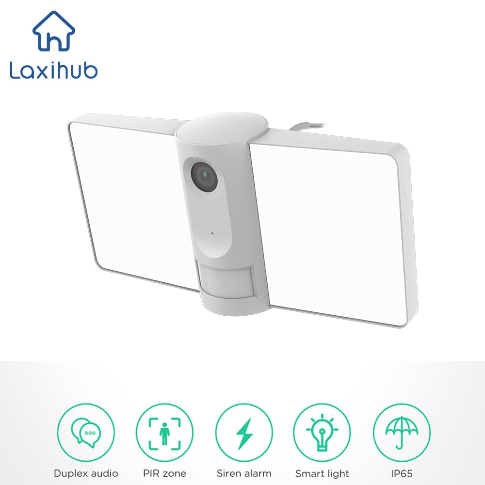 Outdoor Wi-Fi Camera with Floodlight, Two-way Audio, Color Night Vision