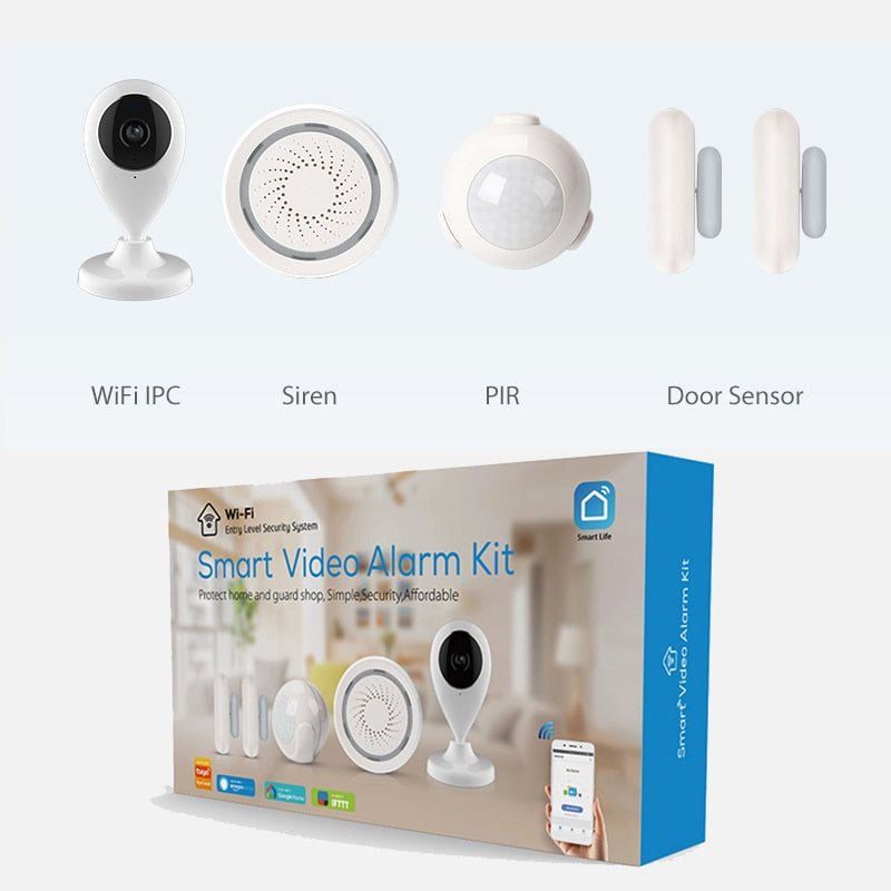 Home Security System BASIC with Camera - WiFi Enabled