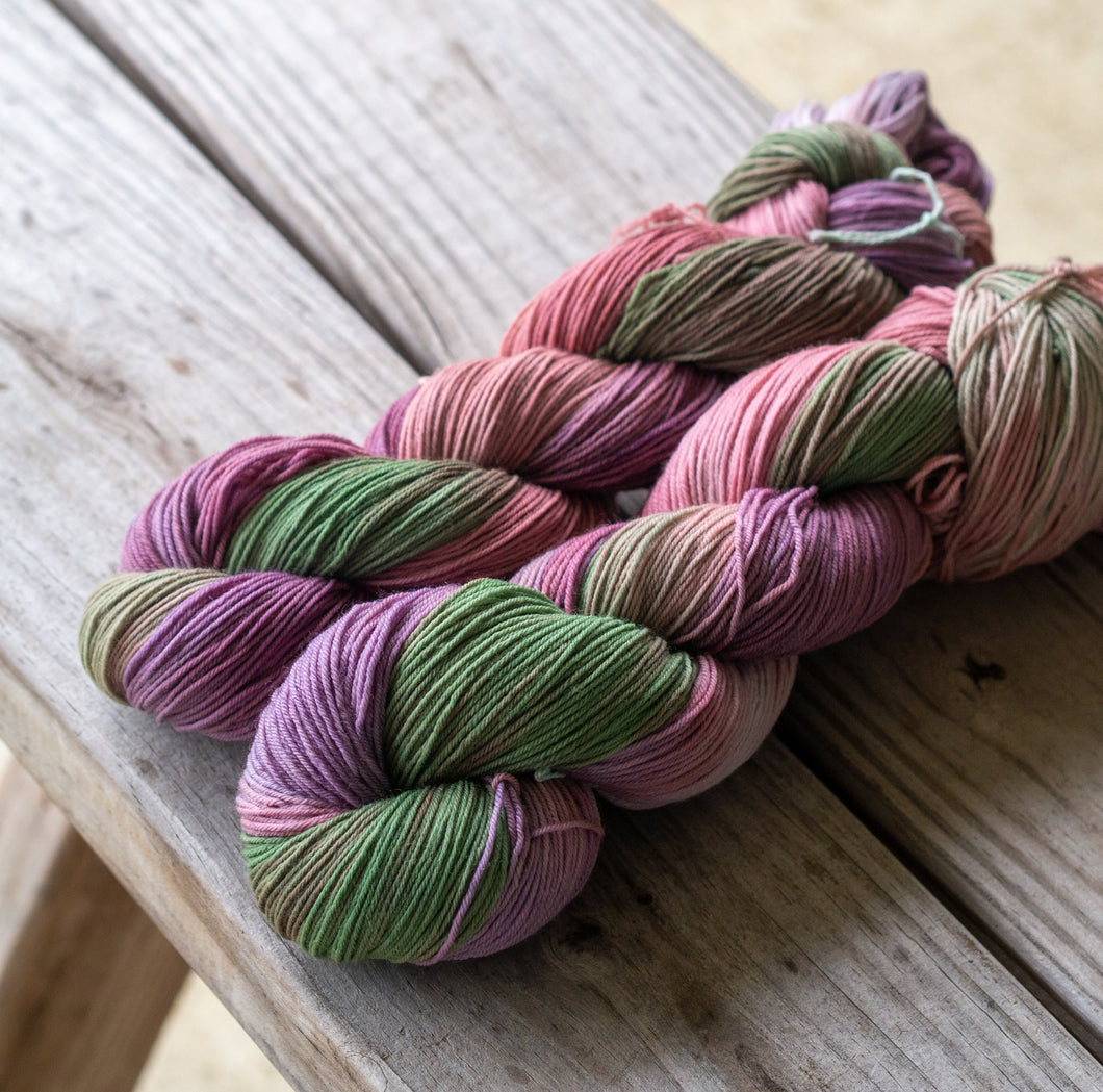 Logwood Quebracho and Chlorophyll Naturally Dyed Sock