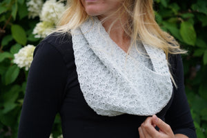 Tuckerton Cowl Hand Knitting Pattern Fingering and DK Weight
