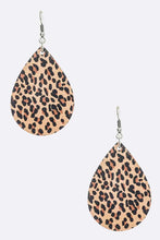 Load image into Gallery viewer, Faux Leather Tear Drop Earrings