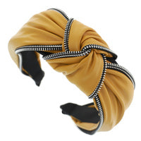 Load image into Gallery viewer, FAUX LEATHER KNOT HEADBAND