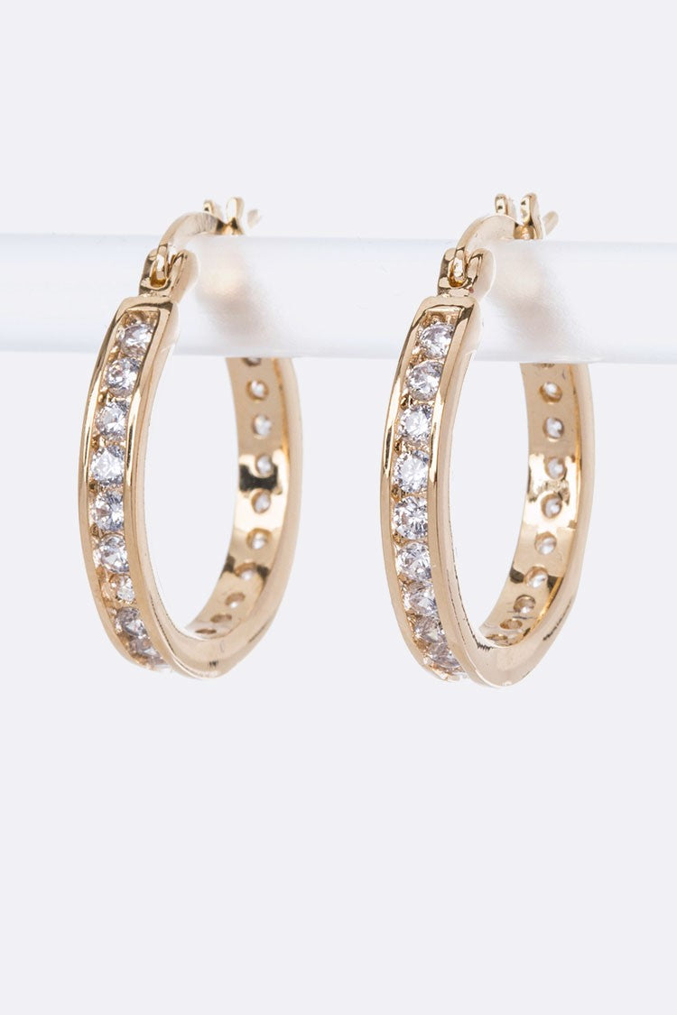 Small CZ Hoop Earrings