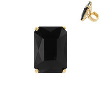 Lrg Emerald Cut Rhinestone Stretch Ring