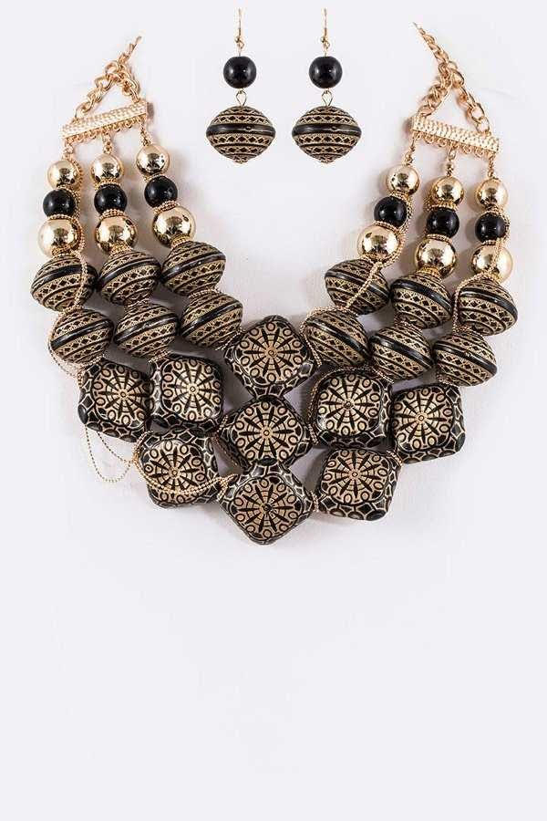Bold Statement Necklace Set