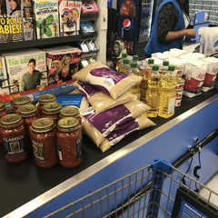 Food being purchased to donate on behalf on SharonWein Designs