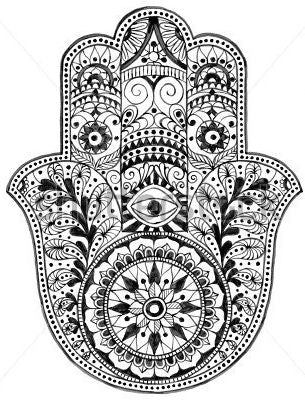 Illustrated graphic of the Hamsa Hand