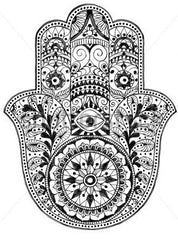 Illustrated graphic of Hamsa Hand
