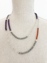 Load image into Gallery viewer, Multi-Color and Silver Wrap Necklace