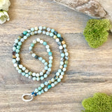 Faceted Amazonite Alpa Intention Mala Necklace