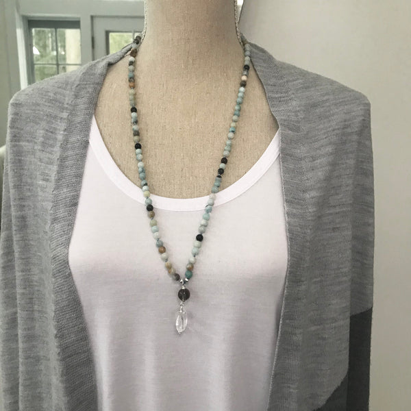 Amazonite Alpa Mala Necklace