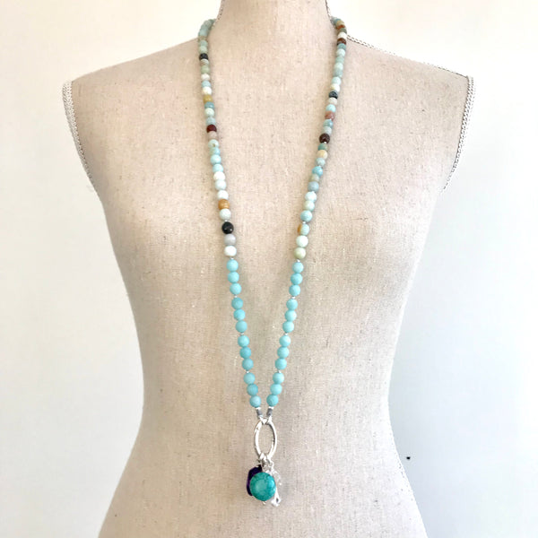 Amazonite Intention Mala Necklace