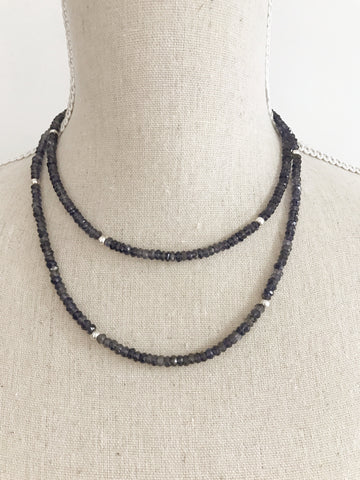 Iolite Wrap Necklace