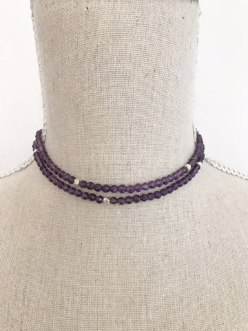 Amethyst double Wrap Necklace