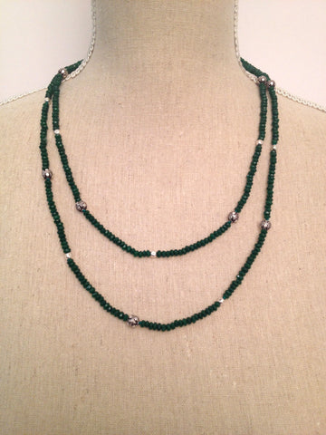 Green Onyx ooak Wrap Necklace ~ N75