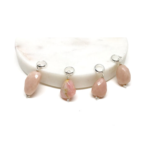 Pink Opal Charms