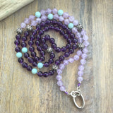 Amethyst and Amazonite Intention Necklace