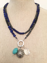 Load image into Gallery viewer, Lapis Lazuli and Hematite Intention Necklace