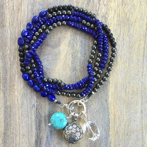 Lapis Lazuli and Hematite Intention Necklace