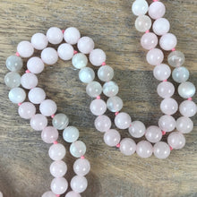 Load image into Gallery viewer, Rose Quartz and Moonstone Intention Mala Necklace